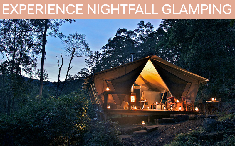 Experience Glamping at Nightfall