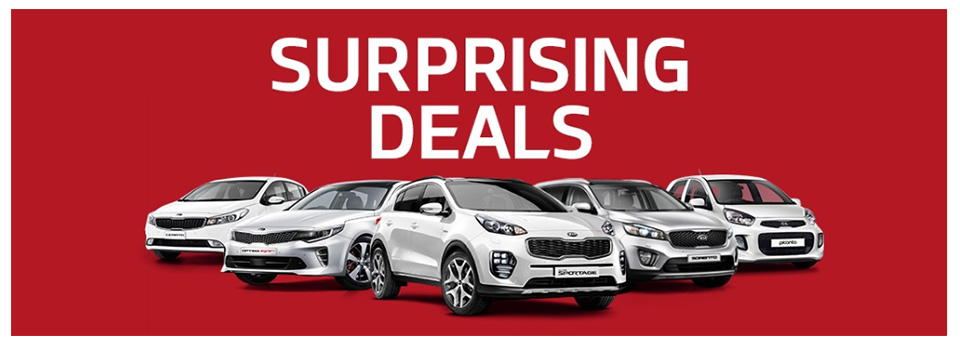 Kia Web Banner Surprising Deals