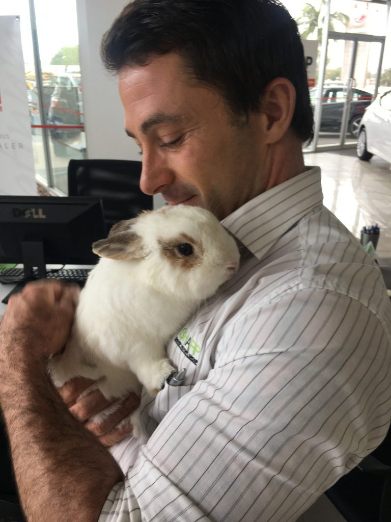Matt with Rabbit